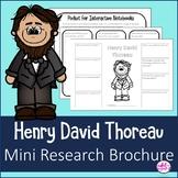 Henry David Thoreau Author Study Research Bio Brochure Interactive Notebook