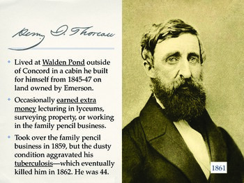 Henry David Thoreau Biography and Background (with Walden content)