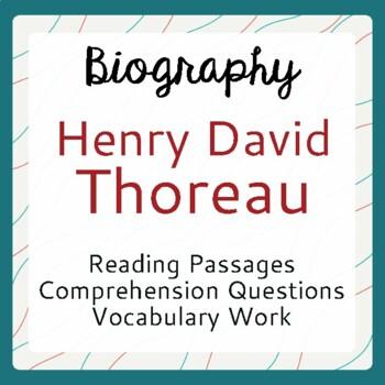 Henry David Thoreau Biography Informational Texts Activities