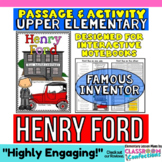 Henry Ford: Biography Reading Passage:  Famous Inventor
