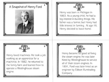 Henry Ford | Biography Activity