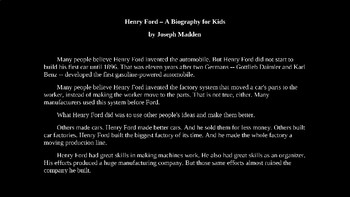 Henry Ford Biography PowerPoint