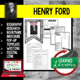Henry Ford Biography Research, Bookmark Brochure, Pop-Up, Writing, Google