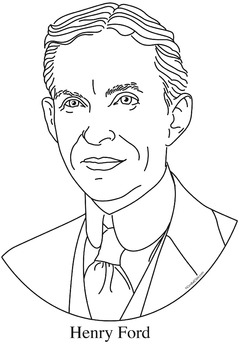 Henry Ford Clip Art, Coloring Page, or Mini-Poster
