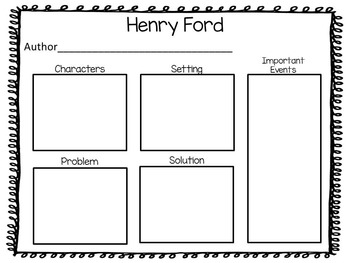 Henry Ford   Putting the World on Wheels ~ 41 pages of Common Core Activities