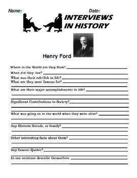 Henry Ford Research and interview Assignment