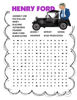 Henry Ford Word Search