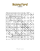 Henry Ford Activity - Henry Ford Word Search