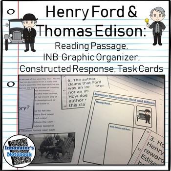 Thomas Edison Reading Passages Worksheets & Teaching