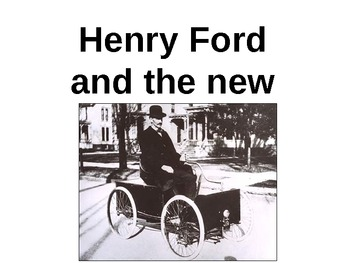 Henry Ford and the New Car