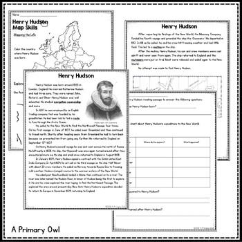 Henry Hudson: 3rd grade Interactive PowerPoint