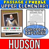 Henry Hudson Reading Passage: Biography: Comprehension Crossword Puzzle