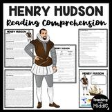 Henry Hudson Biography Reading Comprehension Worksheet, Northwest Passage