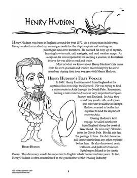Henry Hudson New World Explorer Lesson