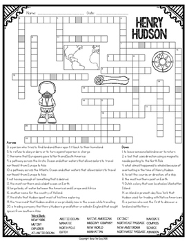 Henry Hudson Crossword