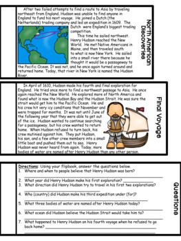 Henry Hudson Flipbook (Interactive Notebooks)