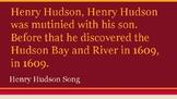 Henry Hudson Song