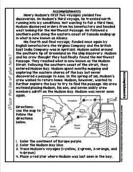 Henry Hudson Tab Booklet