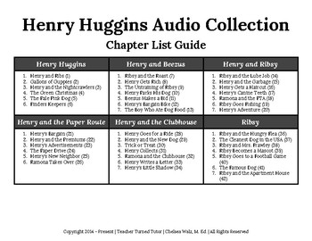 Henry Huggins Audio Collection Chapter List Guide