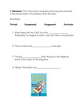 Henry Huggins Chapter 1 Part 1 Test