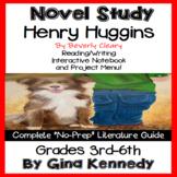 Henry Huggins Novel Study and Project Menu