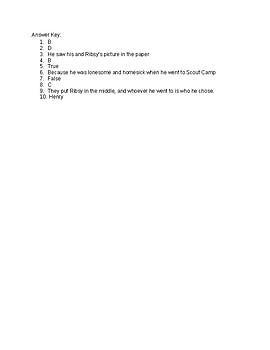 Henry Huggins Quiz ch 6