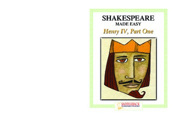 Henry IV Reading Guide (Shakespeare Made Easy)