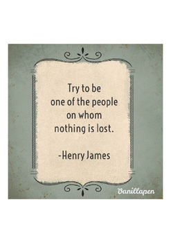 Henry James Quote Poster