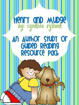Henry & Mudge {An Author Study or Guided Reading Resource Pack}