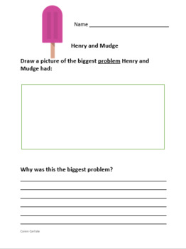 Henry & Mudge Get the Cold Shivers - Question & Answer Sheets