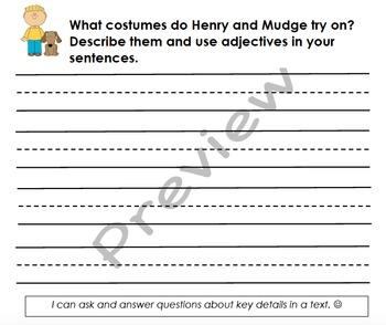 Henry & Mudge & Mrs. Hopper's House Organizers  (Reading Street 4.6)