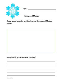 Henry & Mudge Sparkle Days #5 - Question & Answer Sheets