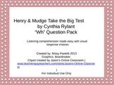 """Henry & Mudge Take the Big Test by Cynthia Rylant """"Wh"""" Que"""