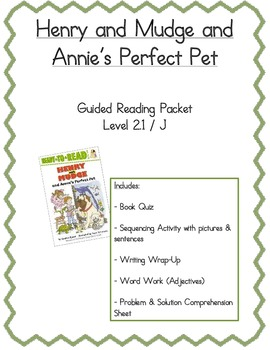 Henry & Mudge and Annie's Perfect Pet- Guided Reading Packet