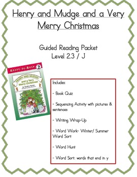 Henry & Mudge and a Very Merry Christmas- Guided Reading Packet