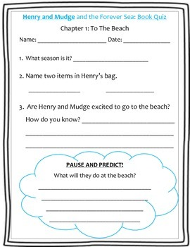 Henry & Mudge and the Forever Sea: Guided Reading Activities