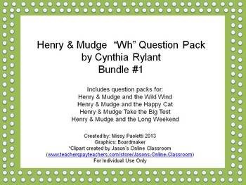 Henry & Mudge by Cynthia Rylant 4 Story Bundle #1