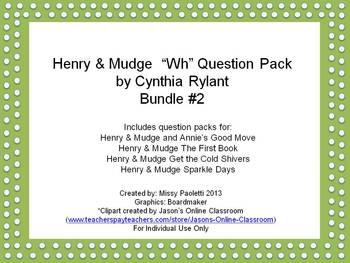 Henry & Mudge by Cynthia Rylant 4 Story Bundle #2