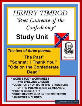 Henry Timrod Poetry - Study Unit