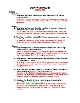 Henry V Study Guide