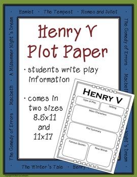 Henry V plot paper and poster