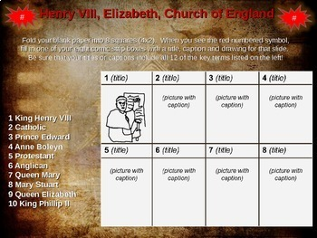 Henry VIII, Elizabeth & the Church of England: engaging Comic Strip Activity