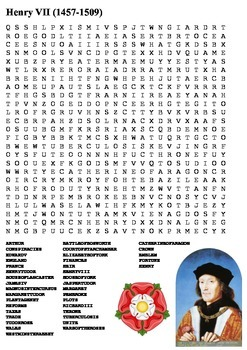 Henry VII Word Search