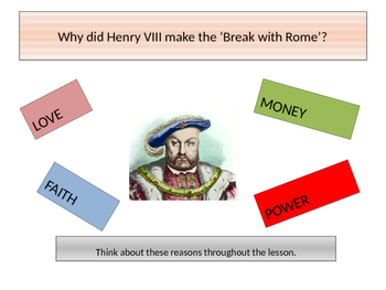 Henry VIII Break with Rome