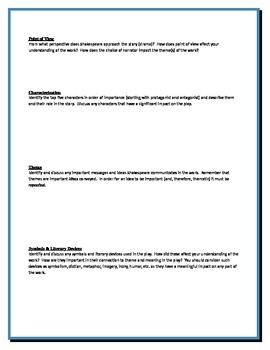 Henry VIII - Shakespeare - Group Critical Response Questions