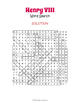 Henry VIII Word Search Puzzle