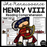 Henry VIII Reading Comprehension, wives, Renaissance, England, Tudors