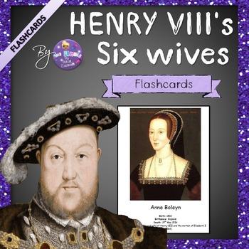 Henry VIII's Six Wives Flashcards - Freebie