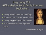 Henry VIII to Elizabeth I - Shakespeare Introduction