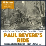 Henry Wadsworth Longfellow Paul Revere's Ride Poetry Analysis